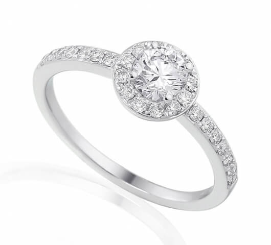 Diamond engagement ring in 18 Karat gold - R44051 - image 1