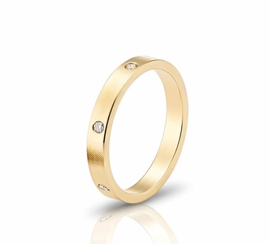 wedding ring in 18 Karat gold - WRW001 - image 2