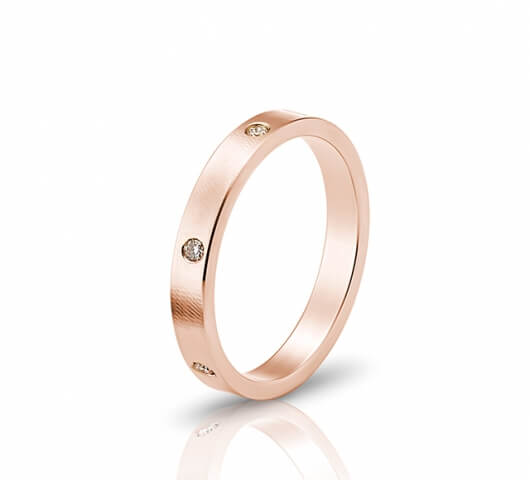 wedding ring in 18 Karat gold - WRW001 - image 3