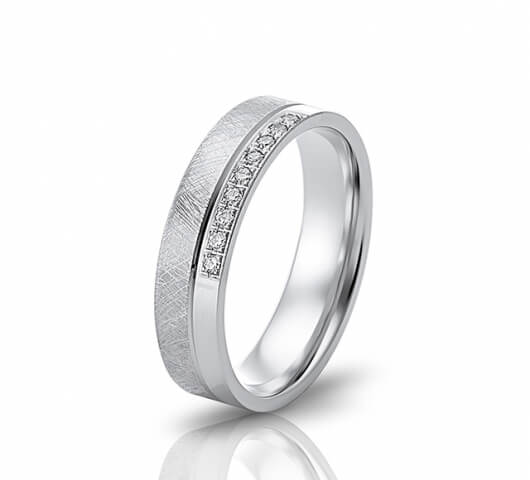 Wedding ring in 18 Karat gold - WRW005 - image 1