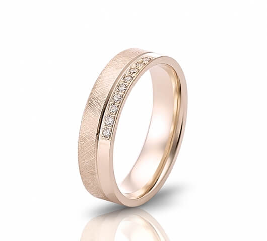 Wedding ring in 18 Karat gold - WRW005 - image 2