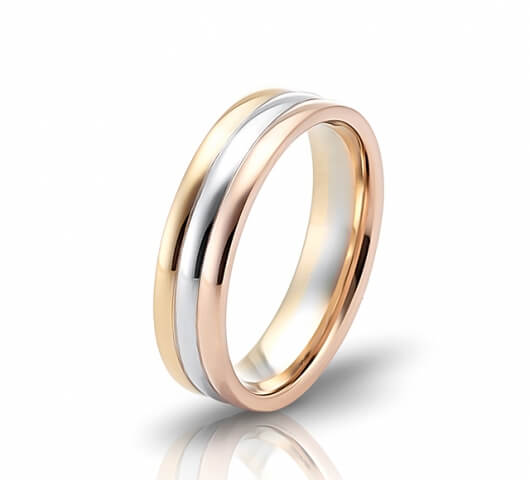 Wedding ring in 18 Karat gold - WRW009 - image 2