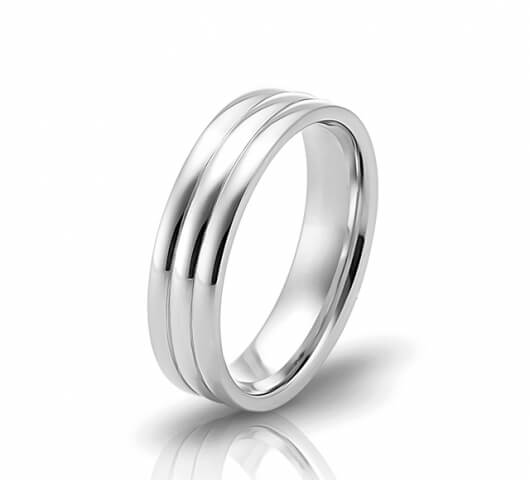 Wedding ring in 18 Karat gold - WRW009 - image 1