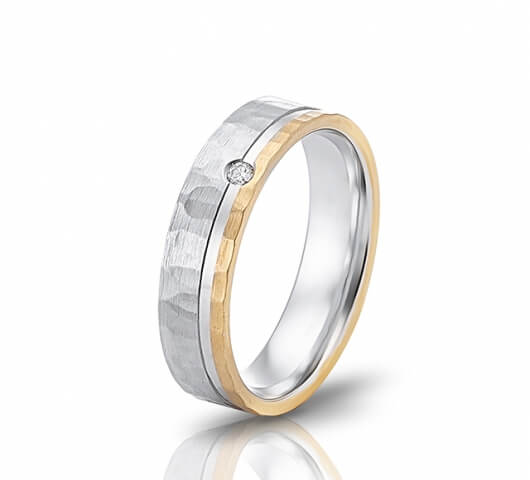 Wedding ring in 18 Karat gold - WRW011 - image 2