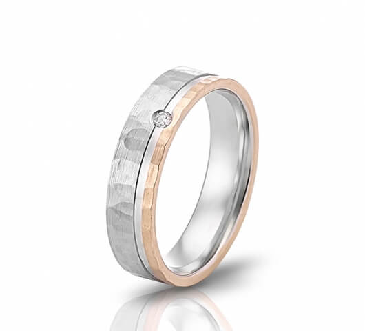 Wedding ring in 18 Karat gold - WRW011 - image 3