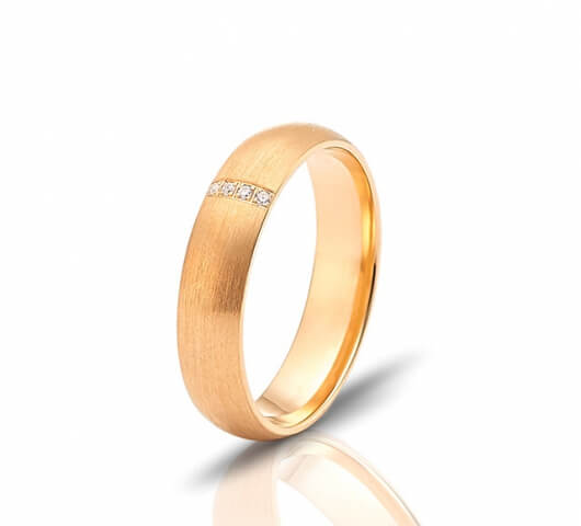 Wedding ring in 18 Karat gold - WRW013 - image 2