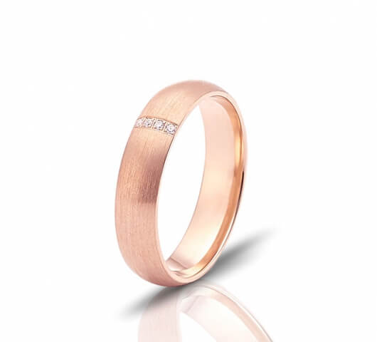 Wedding ring in 18 Karat gold - WRW013 - image 3