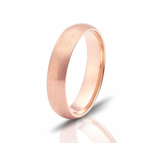Wedding ring in 18 Karat gold - WRM013 - image 3
