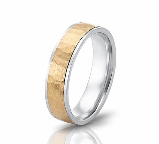 Wedding ring in 18 Karat gold - WRM015 - image 1
