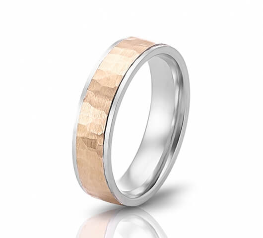 Wedding ring in 18 Karat gold - WRM015 - image 2
