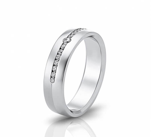 Wedding ring in 18 Karat gold - WRW016 - image 1