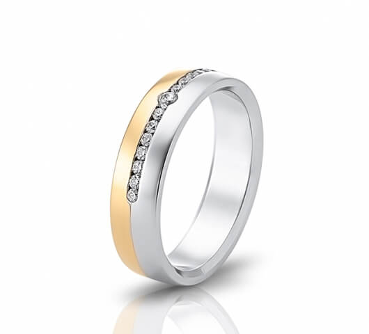 Wedding ring in 18 Karat gold - WRW016 - image 2