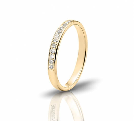 Wedding ring in 18 Karat gold - WRW023 - image 2