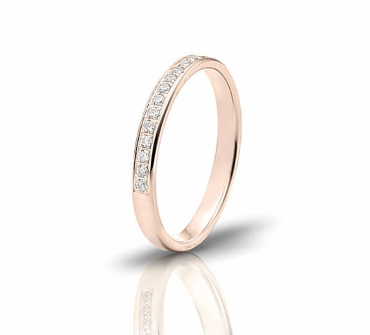 Wedding ring in 18 Karat gold - WRW023 - image 3