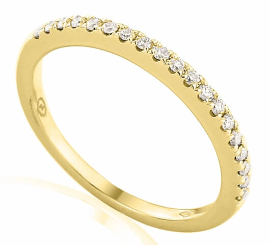 Half eternity ring in 18 karat gold - HET005 - image 2