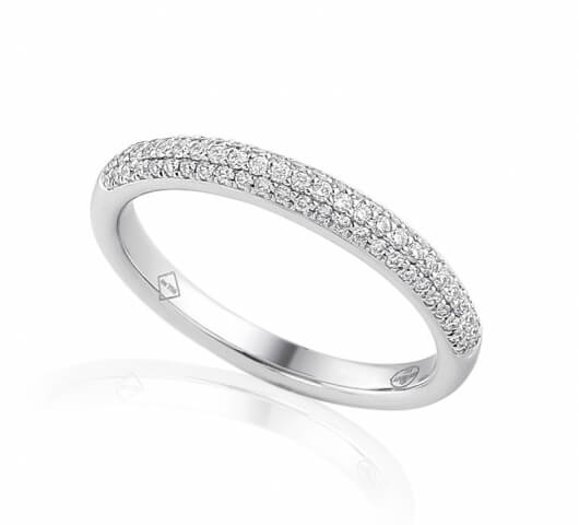 Half eternity ring in 18 karat gold - HET006 - image 1