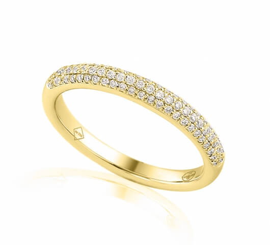 Half eternity ring in 18 karat gold - HET006 - image 2